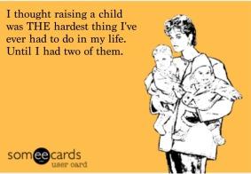 having two kids